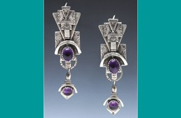 Earrings | Silver with Amethyst