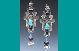 Earrings | Silver with Amethyst & Turquoise