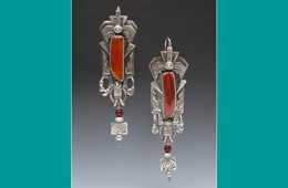 Earrings | Silver with Carnelian