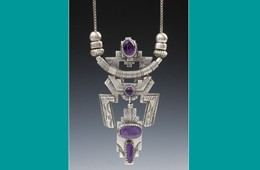 Pendant | Silver with Sugilite & Amethyst