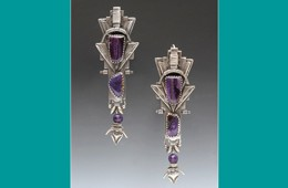 Earrings | Silver with Sugilite