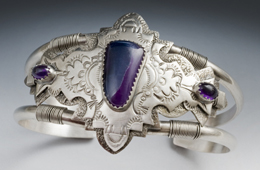 Bracelet | Silver, Sugilite & Amethyst