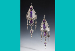 Earrings | Silver with Sugilite & Amethyst