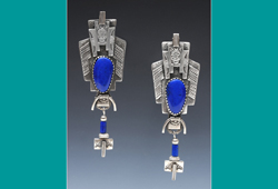Earrings | Silver with Lapis